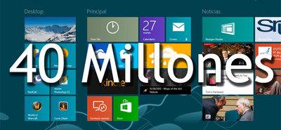 Windows 8 ha superado las 40 millones de licencias