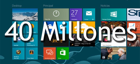 Windows 8 ha superado las 40 millones de licencias