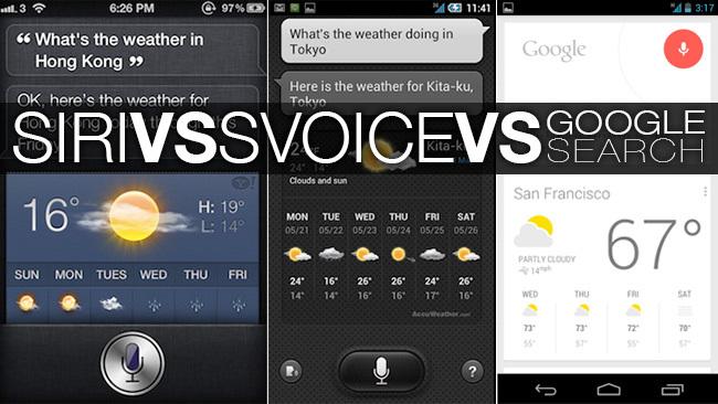 Siri vs. S Voice vs. Google Search (Jelly Bean)