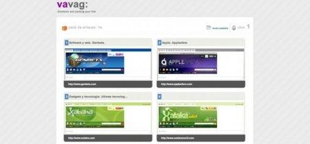 Vavag es un acortador que permite agregar varias URLs a la vez y mostrarlas de varias formas