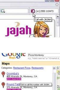 Jajah para Firefox, clickeando números de teléfonos