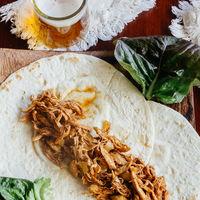 Tacos de pollo al balsámico. Receta fácil y deliciosa
