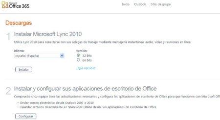 Instalación aplicaciones escritorio Office 365