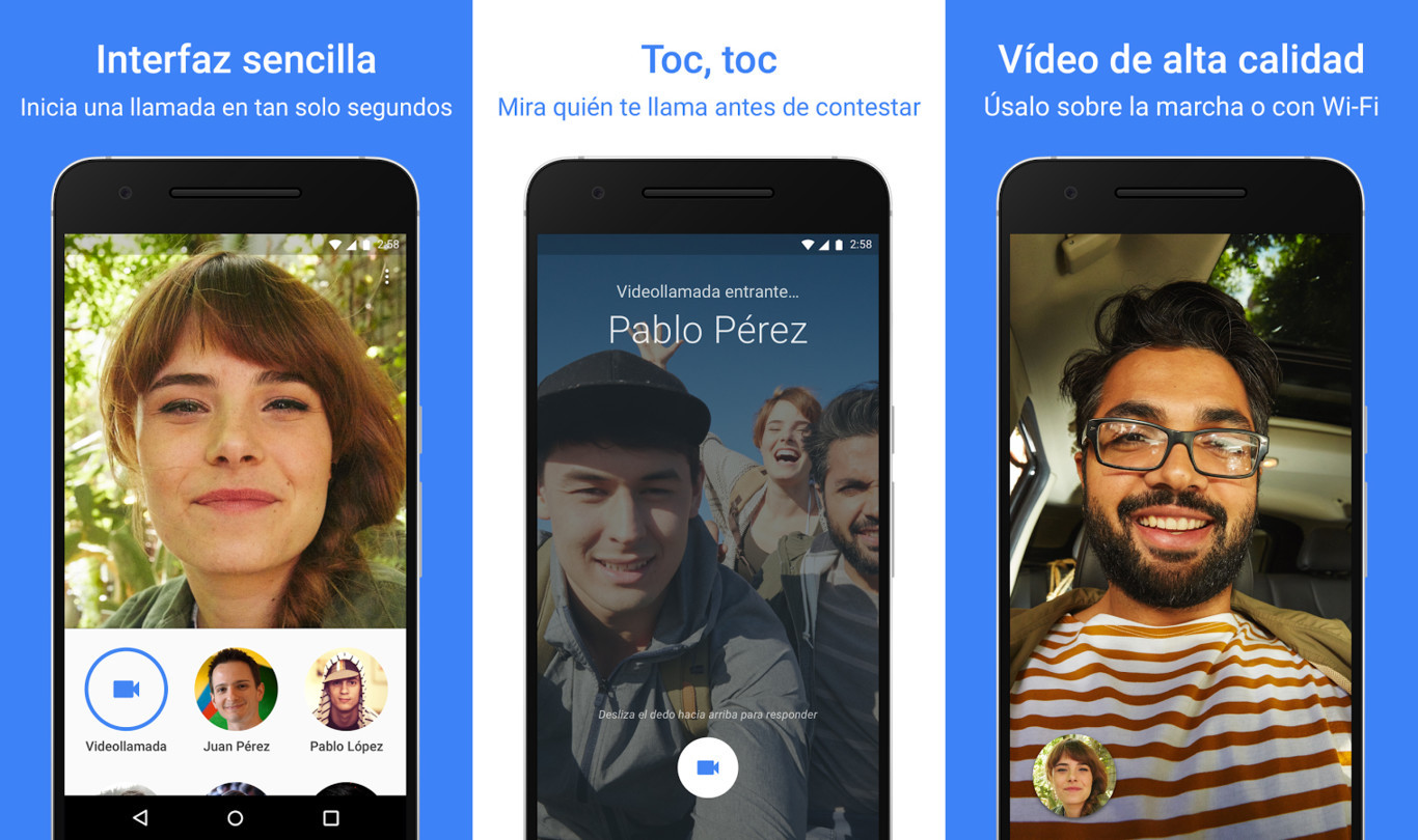 Google Duo ya está disponible en Google Play y la App Store