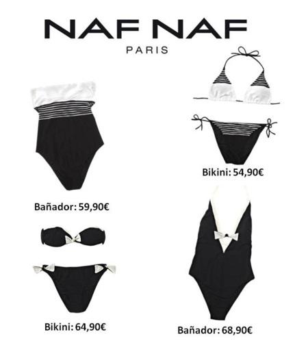 Un baño en blanco y negro: Naf Naf Verano 2012