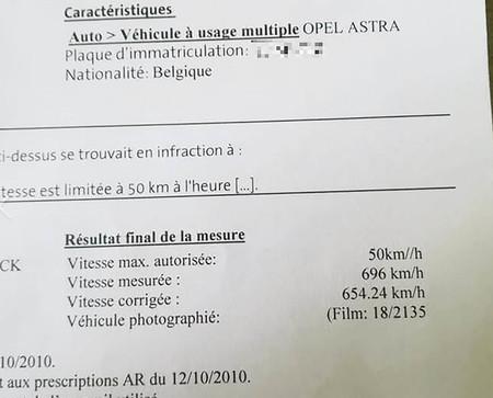 No, nadie ha llegado a rozar los 700 km/h con un Opel Astra (pero sí que hubo una multa por ello)