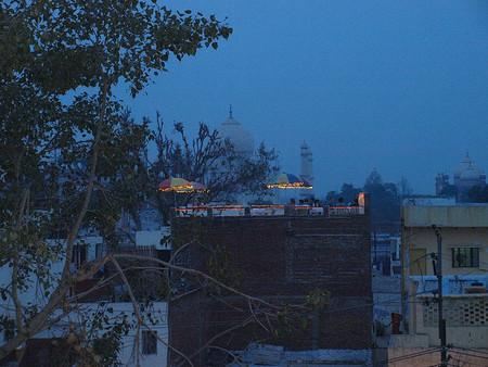 Taj Mahal desde los tejados de Agra