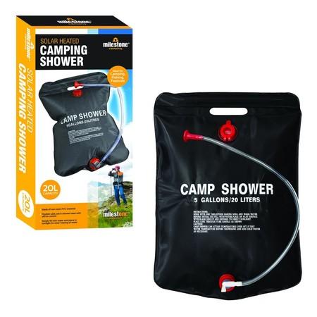 Para camping o festivales, la ducha solar Milestone de 20 litros de capacidad puede venirnos genial por 8,99 euros
