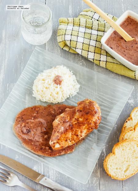 Pechuga de pollo en salsa de frijol. Receta