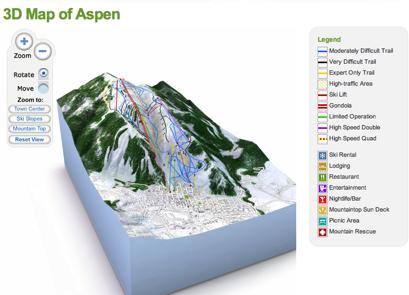 Pistas de esquí en 3D