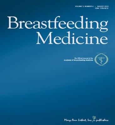 """La revista """"Breastfeeding Medicine"""", gratis este mes"""