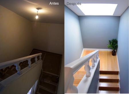 Antes y después: un ático madrileño de los años 80 se llena de luz