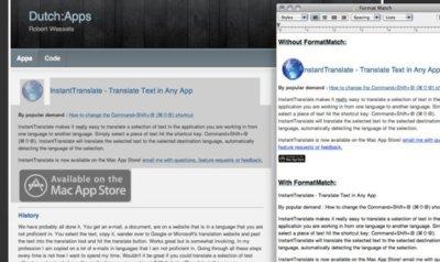 FormatMatch, copia y pega texto desde una página web sin preocuparte por el formato