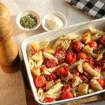 Penne con tomates cherry asados, la receta de pasta más sencilla y sabrosa