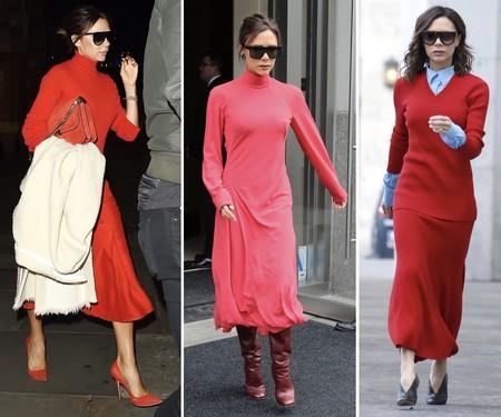 Victoria Beckham Estilismos Rojo 02