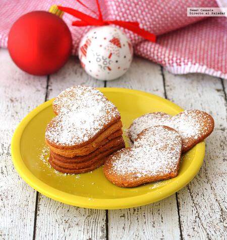 Galletas de turrón con un toque de naranja. Receta fácil para Navidad