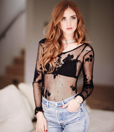 Chiara Ferragni Lace Top