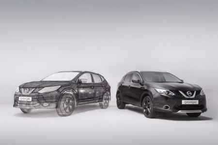 ¿A que nunca habías visto un Nissan Qashqai escala 1:1, hecho con bolígrafo 3D?