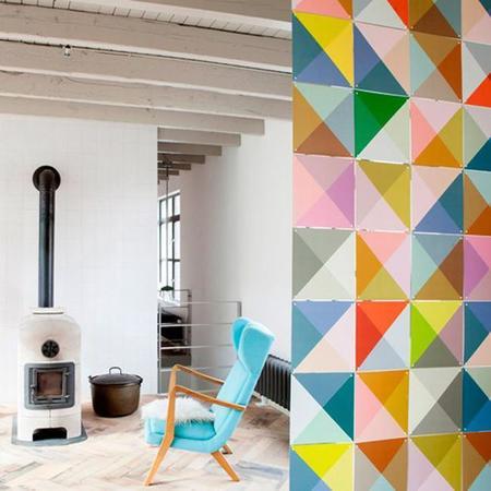 Un gr fico y colorido sistema modular para decorar tus - Pintar paredes originales ...