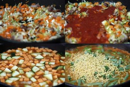 Hacer minestrone