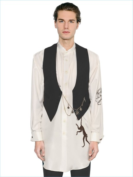 Alexander Mcqueen Vest With Pocket Chain