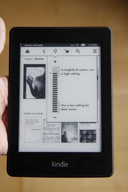 brillo pantalla paperwhite