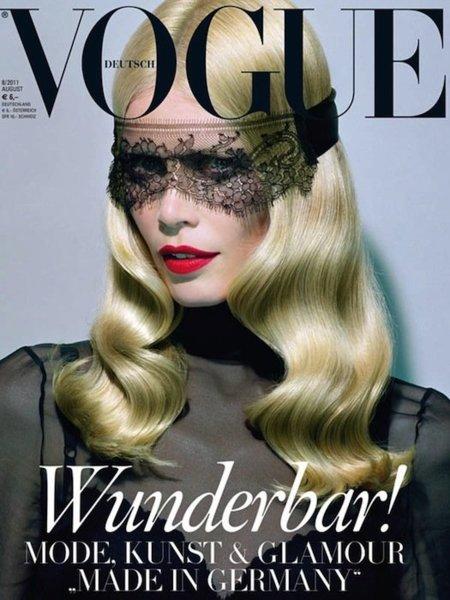 ¡Hallo Claudia! La modelo, bella y patriótica para Vogue Alemania