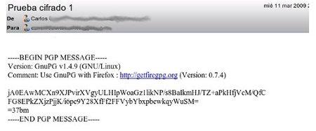 Firepgp extensión de Firefox para cifrar correos