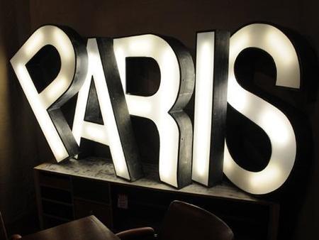 letras paris vintage