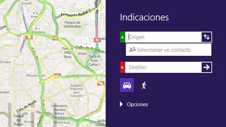 Mapas app para Windows 8/RT