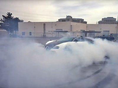 ¡Brutal! Un Bugatti Veyron y un burnout de 40.000 euros en neumáticos desintegrados en segundos