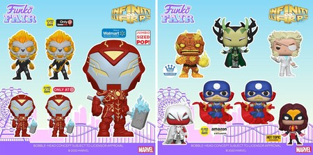 Figuras Funko POP de Marvel Infinity Warps en preventa en Amazon México