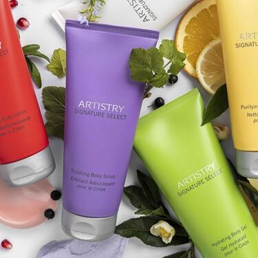 La línea corporal de Artistry Signature Select permite mezclar y combinar productos para adaptarse a las necesidades de cada piel