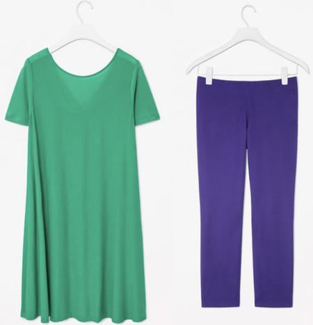 Verde, azul y morado: los colores del verano COS