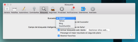 Safari Preferencias Buscador Mac