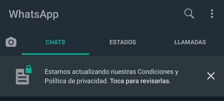Whatsapp Nuevo Aviso Privacidad