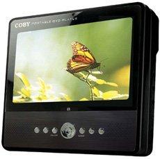 DVD portátil Coby con pantalla de 7 pulgadas