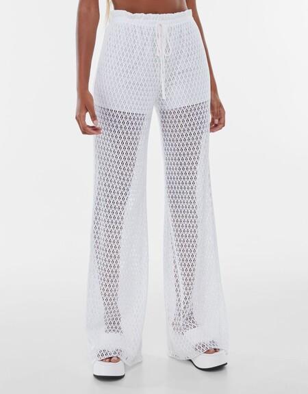 Pantalon Flare Crochet