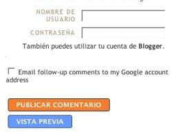 Notificaciones por correo de los comentarios en Blogger