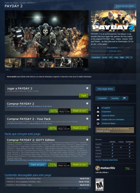 Hora De Los Asaltos Prueba Payday 2 Este Fin De Semana En Steam 00