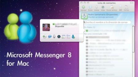 Microsoft Messenger 8 para Mac, versión final ya disponible