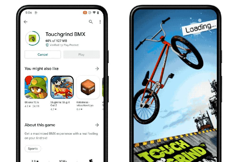 Android 12 te permitirá jugar a los juegos mientras se descargan