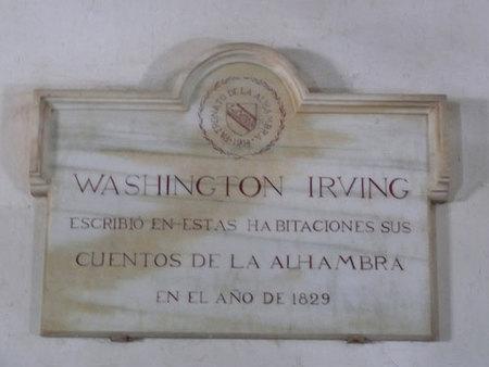 La Alhambra rinde homenaje a Washington Irving