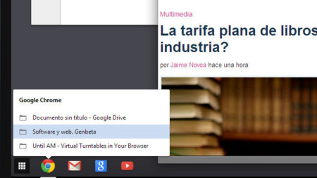Google Chrome en Windows 8, menú botones