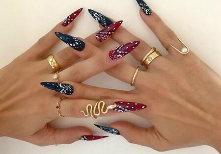 Las uñas bandana triunfan en Instagram: te damos toda la inspiración que necesitas para poder copiarlas