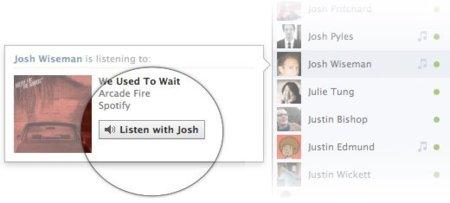 Facebook ya permite a los usuarios escuchar la música de sus amigos