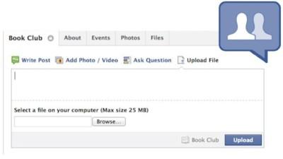 Facebook permitirá compartir archivos en los grupos