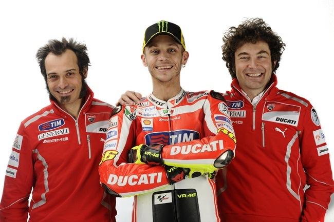 Alessandro Cicognani, Valentino Rossi y Vittoriano Guareschi