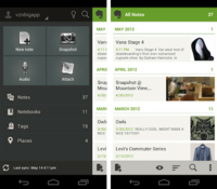 Evernote 4.0 llega a Android con rediseño