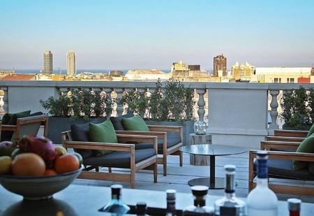 terraza del Hotel Alma de Barcelona
